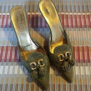 Prada Kitten Heel Pumps. Size 38